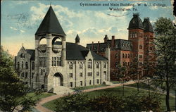 Gymnasium and Main Building, W. & J. College Postcard