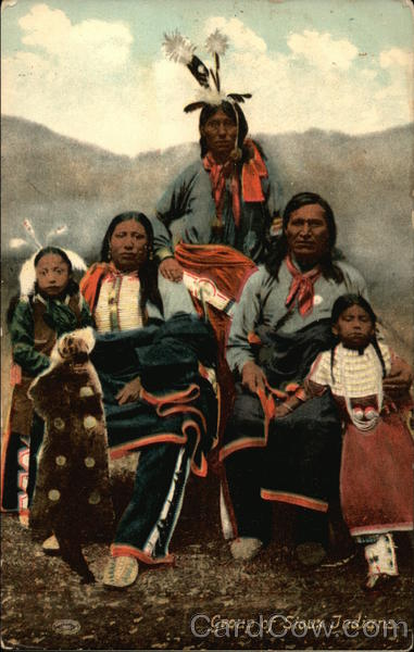 Group of Sioux Indians Native Americana