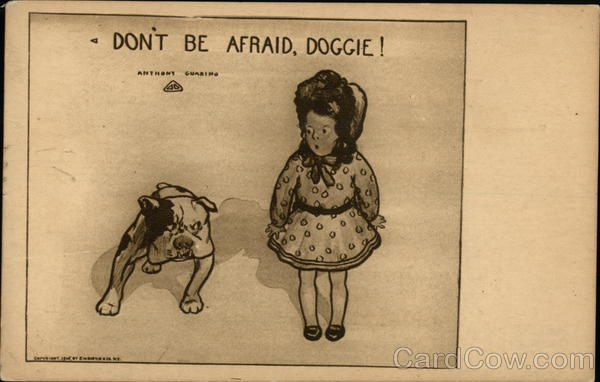 Don't Be Afraid, Doggie! - Girl and Bulldog Advertising