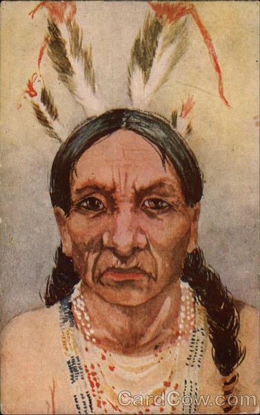 Portrait of Native American Native Americana