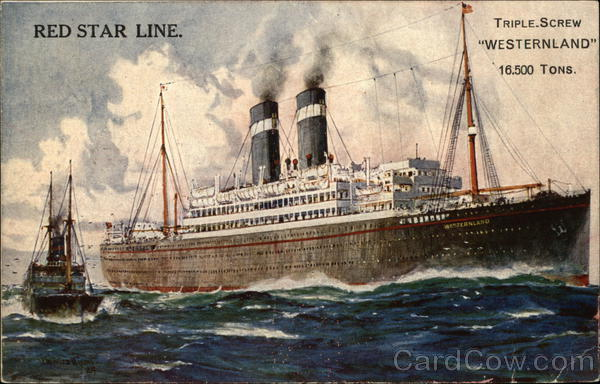 Red Star Line Triple Screw Westernland