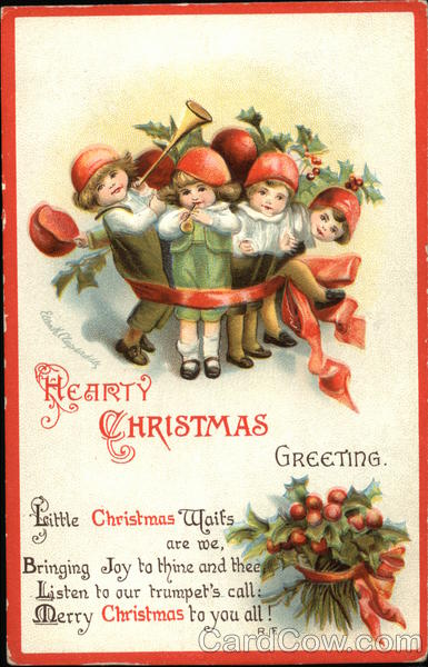 A Hearty Christmas Greeting Ellen Clapsaddle Children