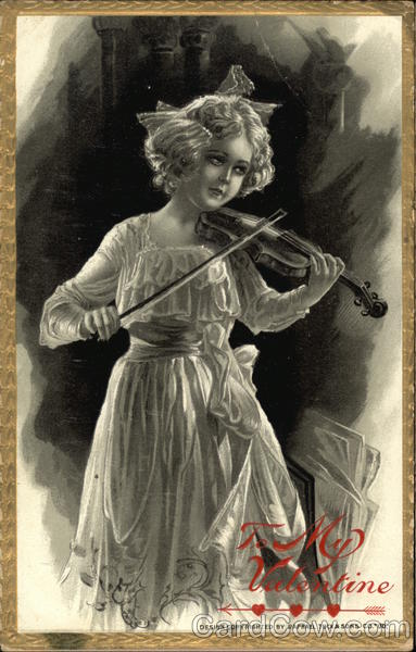 My Valentine - Girl Playing Violin Women