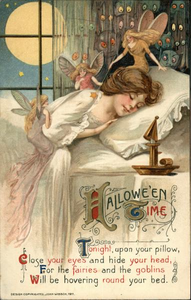 Woman Sleeping with Fairies and Goblins, Full Moon