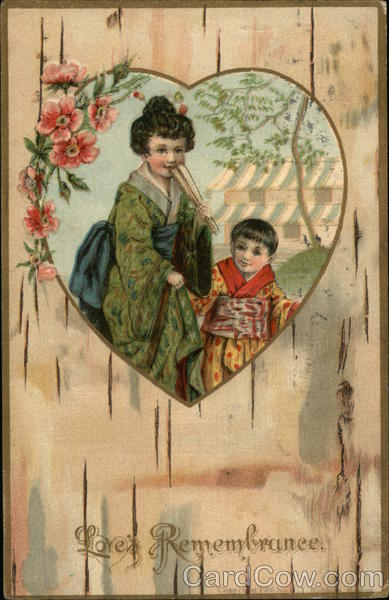Children in Oriental Clothing Asian