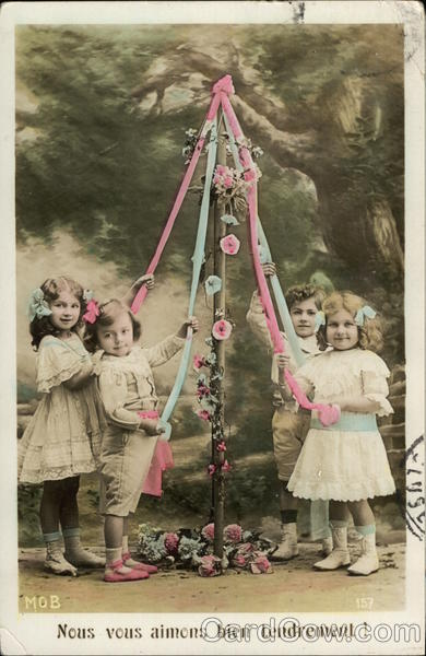 Children Around the May Pole MOB
