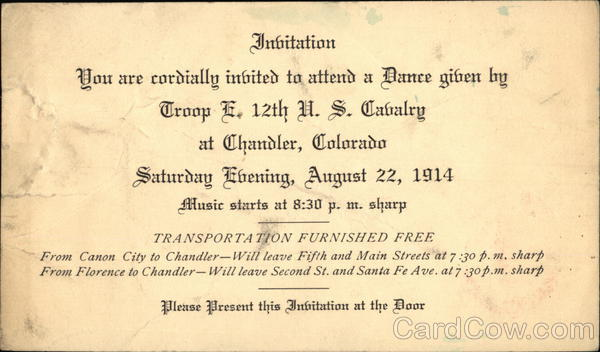 Invitation - You Are Cordially Invited To Attend A Dance ...