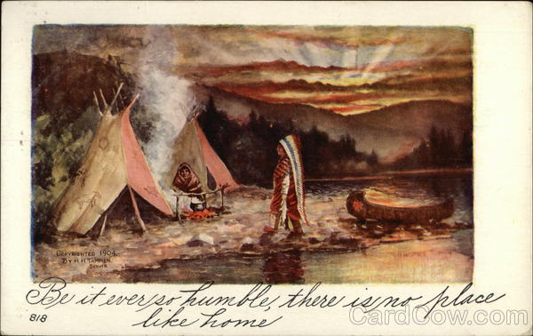 Indian Tipis by a River Native Americana
