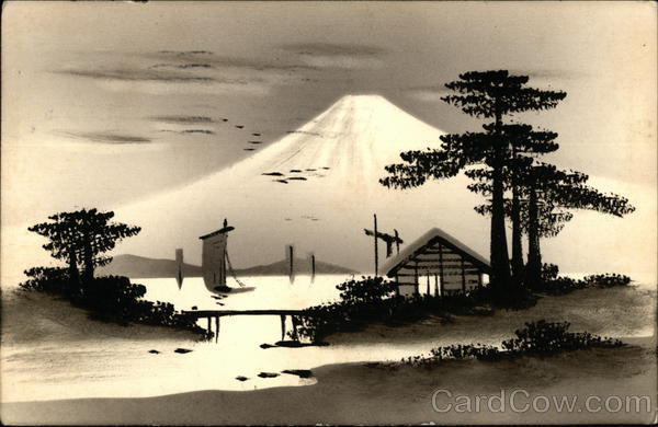 Hand Lacquered Mount Fuji Japan