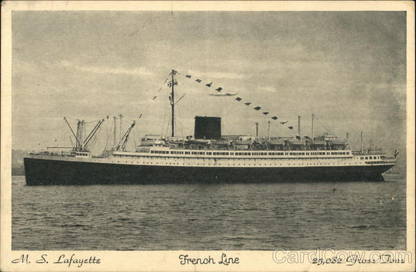 M.S. Lafayette, French Line Steamers