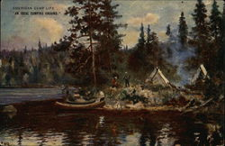 Painting of Island Campers
