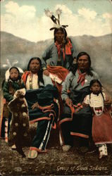 Group of Sioux Indians