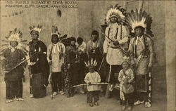 Pueblo Indians at Tewa House