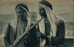 Bedouin Men with Native Dress and Rifles