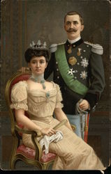 King Victor Emmanuel III anf Queen Margherita of Italy