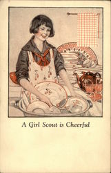 A Girl Scout Is Cheerful