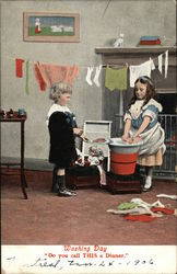 "Washing Day. ""Do You Call This A Dinner?"""