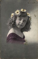 Young Girl with Crown of Flowers