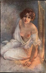 Semi-Nude Woman in Soft Light