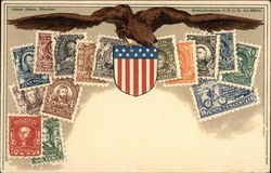 U.S. Eagle, Seal, and Multiple Stamp Denominations