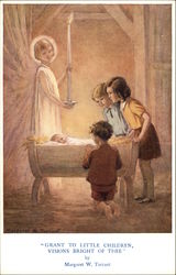 'Grant To Little Children Visions Bright Of Thee' by Margaret W. Tarrant Postcard