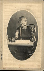 Child at Desk Smoking
