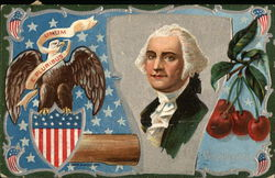 George Washington with Eagle and Cherries
