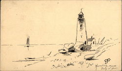 Hand Drawing of Lighthouse, Harwich, Mass. July 11, 1905