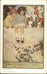 Two Children on the Garden Wall