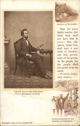 Abraham Lincoln During His Presidency, from a Photograph by Brady Postcard