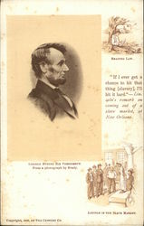 Abraham Lincoln During His Presidency, Reading Law, In The Slave Market Postcard