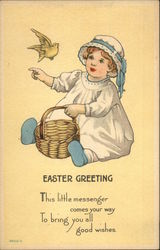 Easter Greeting - This Little Messenger Comes Your Way To Bring You All Good Wishes