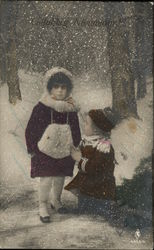 Two Children Out in Snow