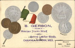 S. Gerson - Dealer in Mexican Drawn Work & Carved Leather Goodsa