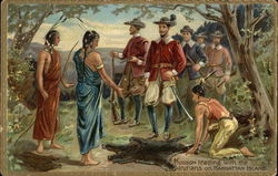 Hudson Trading with the Indians on Manhattan Island