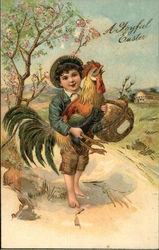 Young Boy with Hen