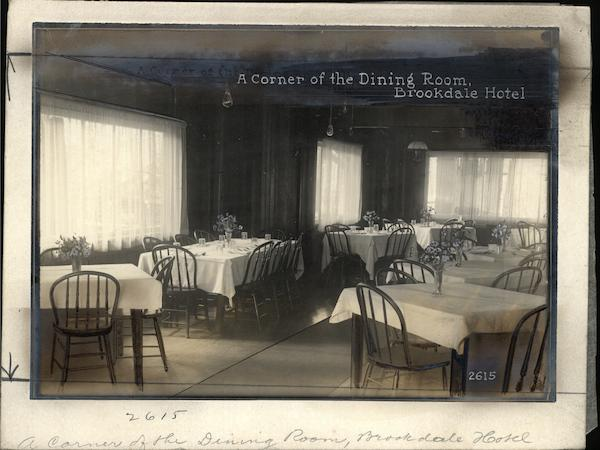 A Corner of the Dining Room Brookdale Hotel Rare Original Photograph California