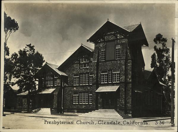 Presbyterian Church Rare Original Photograph Glendale California