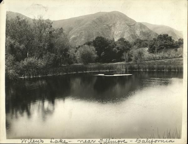 Wiley's Lake Rare Original Photograph Fillmore California