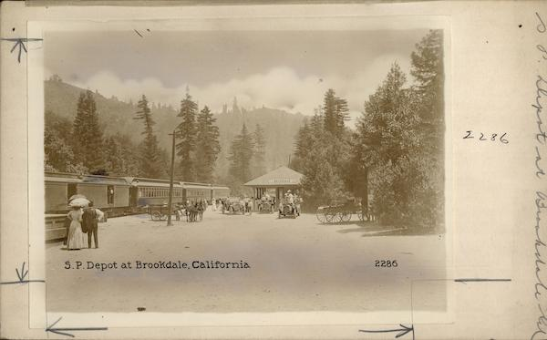 Southern Pacific Depot - Santa Cruz County Brookdale California