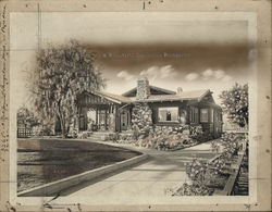 Beautiful California Bungalow Rare Original Postcard Art Original Photograph