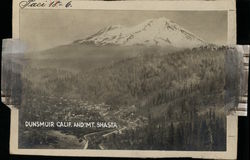 Dunsmuir & Mt. Shasta Rare Original Photograph Layout Board