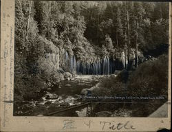 Mossbrae Falls Shasta Route Southern Pacific Rare Original Photograph Layout Board #1817