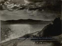 Moonlight on Salton Sea Rare Original Photograph S-689