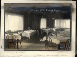 A Corner of the Dining Room Brookdale Hotel Rare Original Photograph
