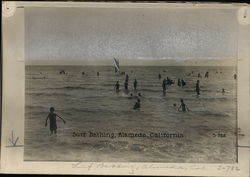Surf Bathing Rare Original Photograph