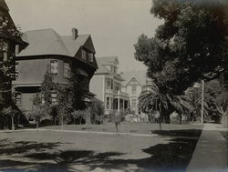 Houses on Grand St. Near San Jose Ave Rare Original Photograph