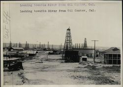 Looking towards River from Oil Center Rare Original Photograph