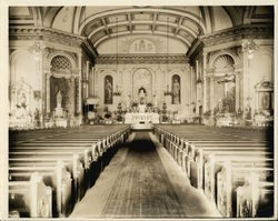 Interior St. Joseph's Church Rare Original Photograph Original Photograph