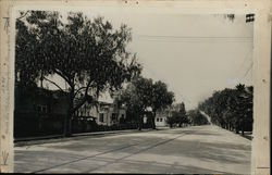 North Los Robles Ave & Maryland Bungalows Rare Original Photograph